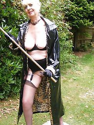Granny, Pvc, Outdoor, Granny stockings, Mature stockings, Mature outdoor