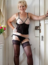 Stockings, Blonde mature, Mature blond