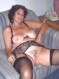 Nylon, Mature nylon, Wide, Nylon mature, Wide open, Open