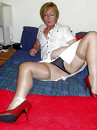 Spreading, Mature nylon, Spread, Mature spreading, Nylons, Nylon mature