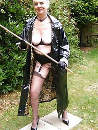 Granny, Pvc, Granny stockings, Mature outdoor, Mature pvc, Outdoor matures