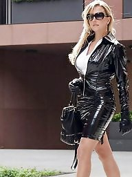 Latex, Leather, Sexy, Milf upskirts, Milf in leather