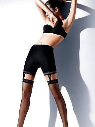 Girdle, Stockings, A bra