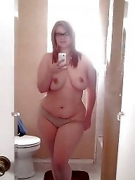 Big tits, Glasses, Topless, Glass, Amateur big tits