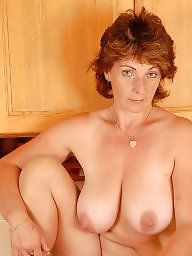 Kitchen, Boobs, Mature posing, Mature boobs, Posing, Hairy milf