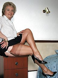 Vintage, Mature stocking, Stocking mature, Stocking tops, Mature flashing, Ladies