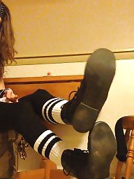 Foot, Shoes, Shoe, Fetish, Foot fetish, Teen stockings