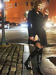 Smoking, Boots, Latex, Leather, Stockings heels, Smoke