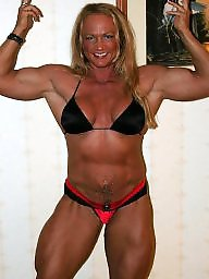 Piercing, Pierced, Female, Bodybuilder