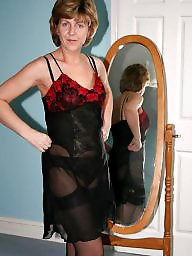 Dress, Uk mature, Mature stockings, Mature dress, Dressed, Mature dressed