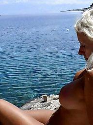 Mature beach, Beach mature, Mature public, Mature blonde, Blonde mature