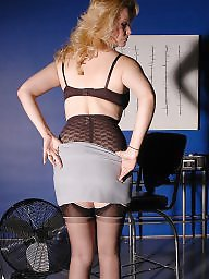 Girdle, Stockings, Nylons, Nylon, Lady, Girdle stockings