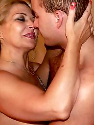 Kissing, Kiss, Mature milf