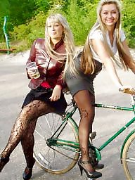 Stocking, Nylon, Nylons, Street, Upskirt stockings, Nylon stockings