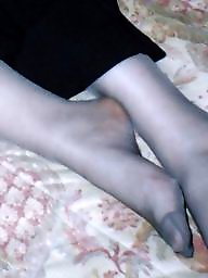 Stocking feet, Tights, Amateur feet, Uk wife, Amateur pantyhose