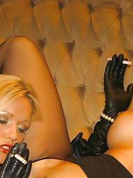Smoking, Latex, Nylon, Milf lesbian, Smoke, Milf stockings