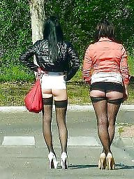 Hooker, Road, Teen stockings, Teen public, Hookers
