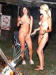 Nudist, Nudists, Flash, Outdoors