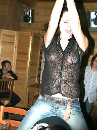 See through, Dress, Flashing, Dressed, Amateurs, Through