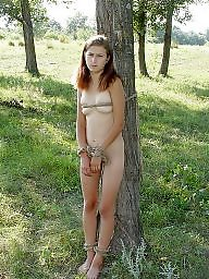 Slave, Slaves, Wood, Amateur teen, Woods, Teen sex