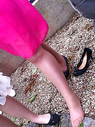 Voyeur, Stockings, Upskirt stockings, Voyeur upskirt