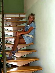 Nylons, Nylon upskirt, Amateur stockings