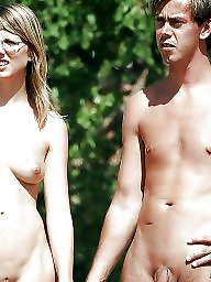 Nudist, Couples, Hanging, Nudists, Couple, Public