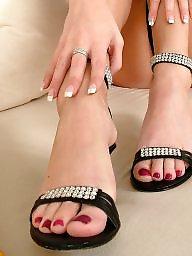 Legs, Sandals, Fingering, Finger, Barely