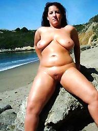 Mature boobs, Public boobs, Mature public