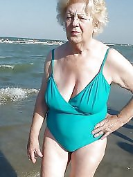 Granny, Beach, Mature beach, Granny beach, Sexy granny, Beach mature