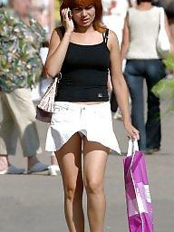 Up skirt, Skirt, White