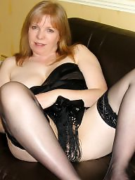 Uk milf, Milf stockings, Redhead tits