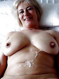 Creampie, Sperm, Granny, Mature creampie, Granny creampie