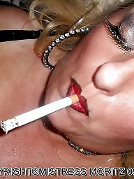 Smoking, Finger, Smoke, Blonde milf