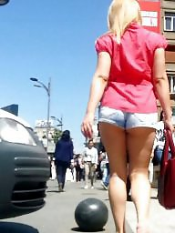Jeans, Spy, Shorts, Short, Romanian, Hot blonde
