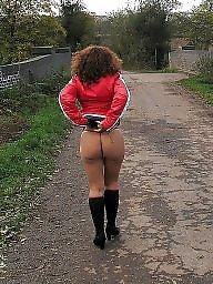 Amateur milf, Public nudity
