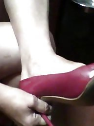 Heels, Fun, Red