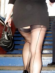 Candid, Amateur stockings