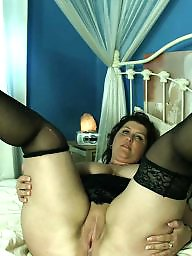 Spreading, Spread, Bbw spreading, Shaved, Bbw stockings, Bbw stocking