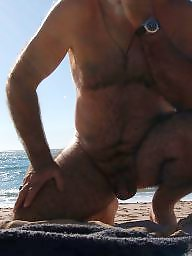 Mature beach, Mature hairy