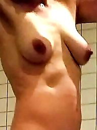 Shower, Unaware, Nude, Amateur wife