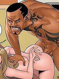 Interracial cartoon, Interracial cartoons, Extreme, Black cock, Cartoon interracial, Art