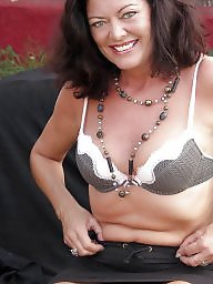 Mature, Strip, Garden, Sexy mature, Mature brunette, Mature strip