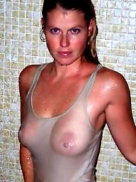 Transparent, Downblouse, Huge, Huge boobs, Big boob, Compilation