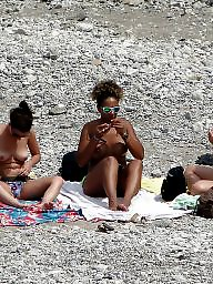Beach, Public, Group, Topless, Public voyeur, Voyeur beach