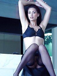 Stockings, Classy, Black stocking, A bra