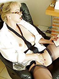 Older, Lady, Stockings, Older mature