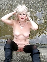 Granny, Grannies, Flashing, Flash, Mature granny, Hot