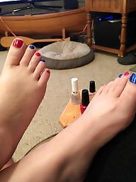 Wife, Toes, Cute, Amateur wife, Paint, Wife amateur
