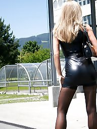 Femdom, Leather, Stockings, Stocking, Dress, Black